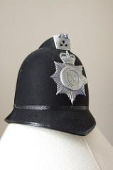 A police helmet