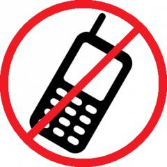 No phones!