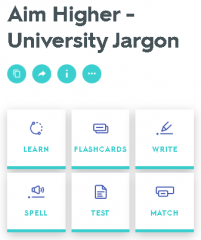 Aim Higher - University Jargon quiz