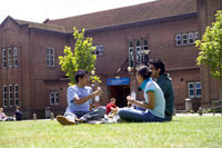 Students at a university in the UK