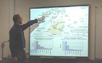 A student presenting in a seminar
